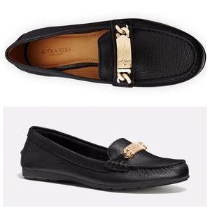 Coach Black Olive Driver Leather Loafer